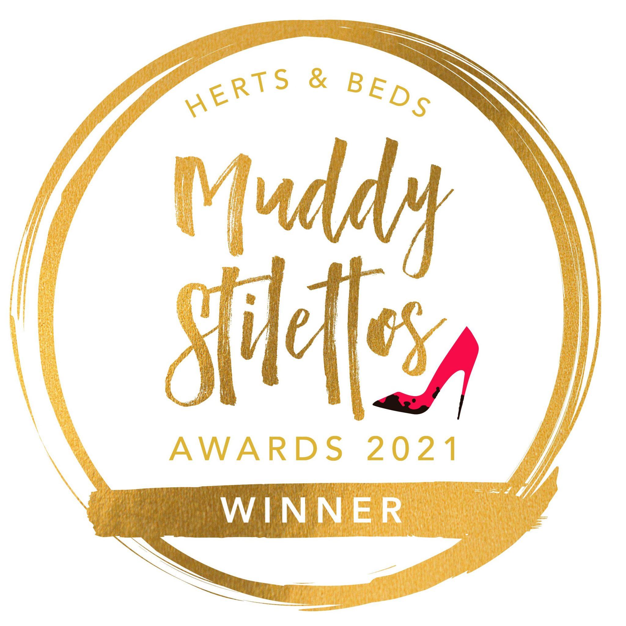 Winner in the Muddy Stilettos Awards 2021